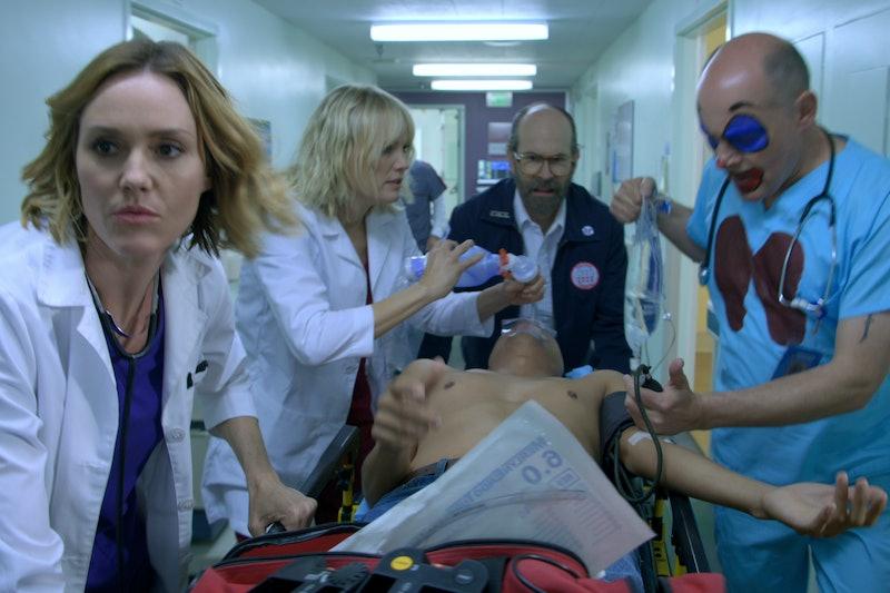 Erinn Hayes, Malin Akerman, Brian Huskey, and Rob Corddry in 'Medical Hospital'