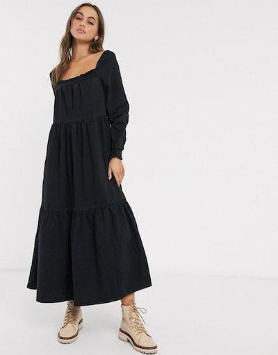Prairie Midi Smock Dress