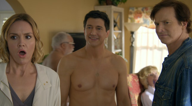 Erinn Hayes, Ken Marino, and Rob Huebel in 'Medical Police'