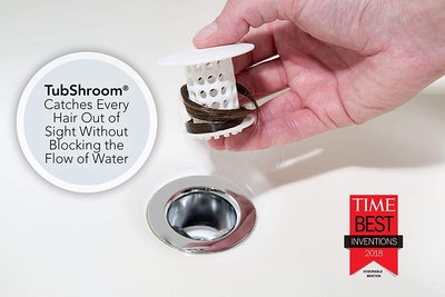 TubShroom The Revolutionary Tub Drain Protector Hair Catcher