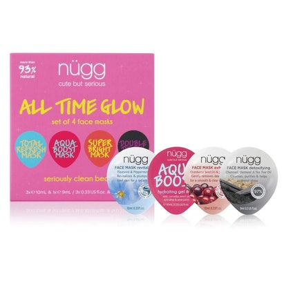 nügg Face Mask Glow Kit (4-Pack)
