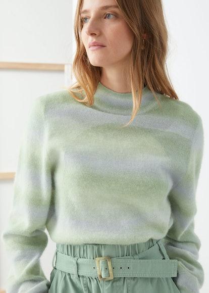 Space Dye Mock Neck Sweater