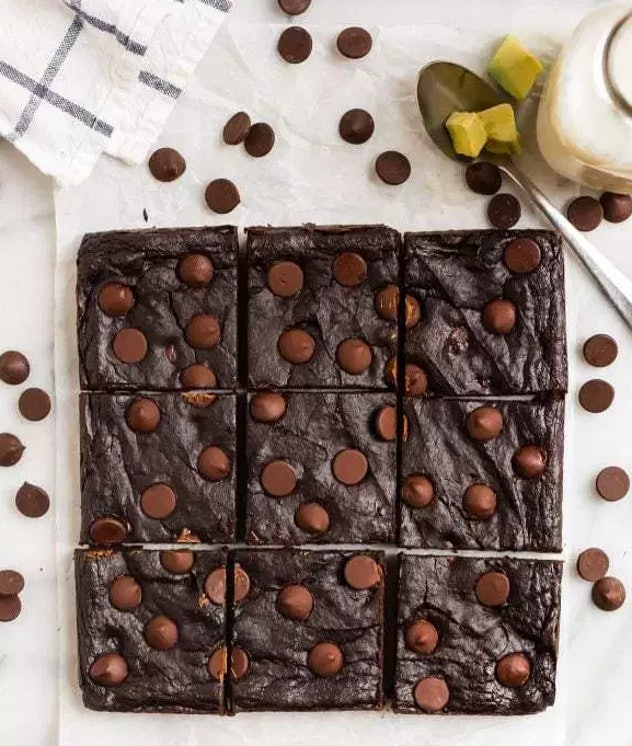 avocado brownies recipe from Well Plated is a healthier take on the dessert