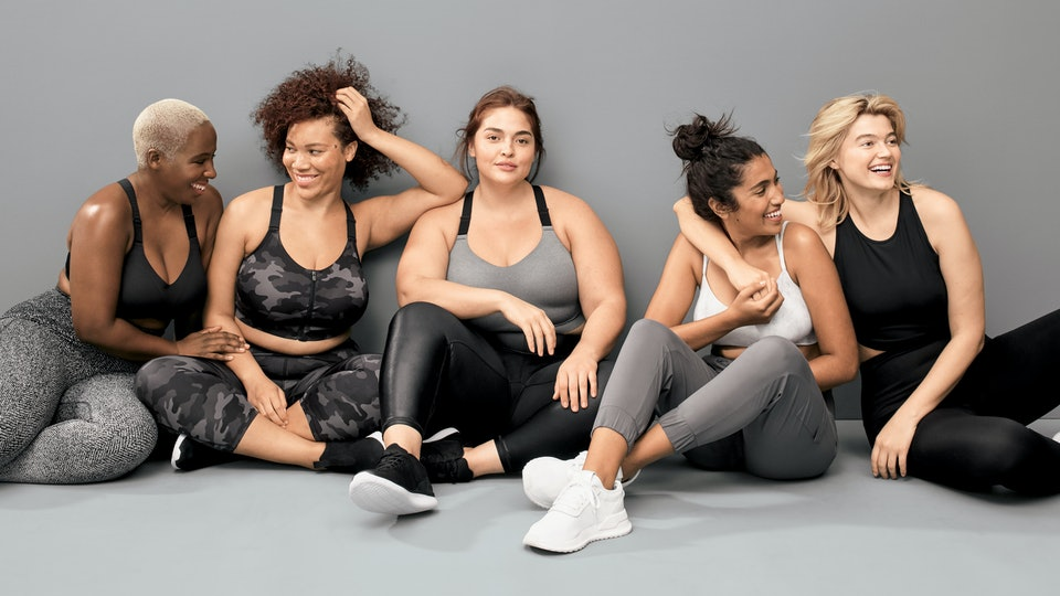 The All in Motion line from Target includes sizing up to 4x for women.