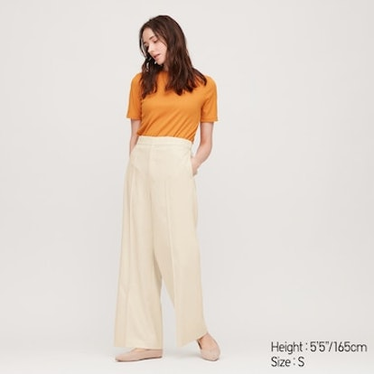 Women High-Waisted Wide Pants