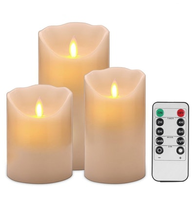Enpornk Flameless Candles (Set of 3)