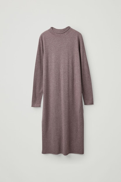 Long Wool-Cotton Dress