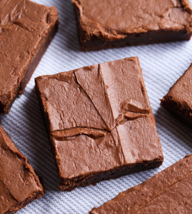 The frosted brownies recipe from Cookies & Cups is a classic