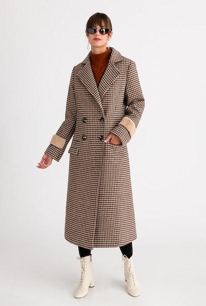 Britta Wool Coat - Chocolate Plaid