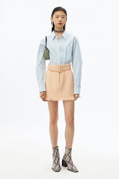 Frayed Edge Tweed Mini Skirt