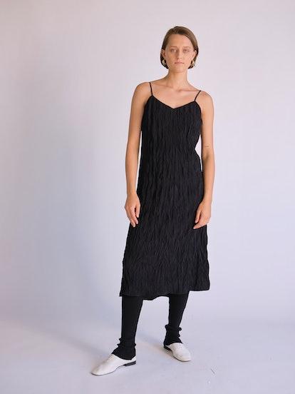 Crinkled Slip Dress