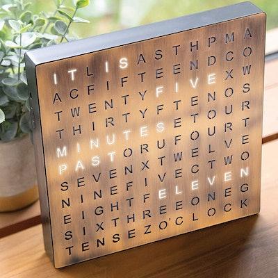 SHARPER IMAGE Light Up Electronic Word Clock