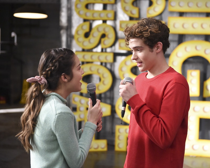 Nini and Ricky singing in High School Musical: The Musical: The Series