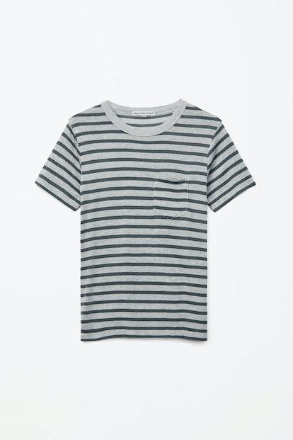Striped Slub Pocket T-Shirt