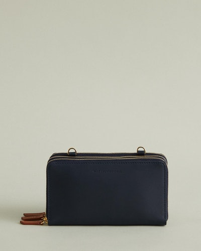 Petra Leather Zip Crossbody Bag
