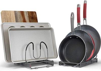 betterthingshome Expandable Pan And Pot Organizer Rack