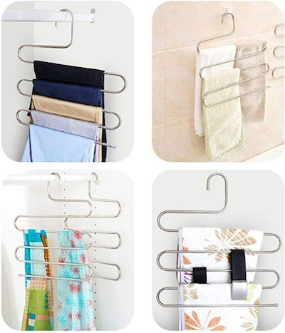 DOIOWN S-Type Stainless Steel Vertical Hangers (3-Pack)