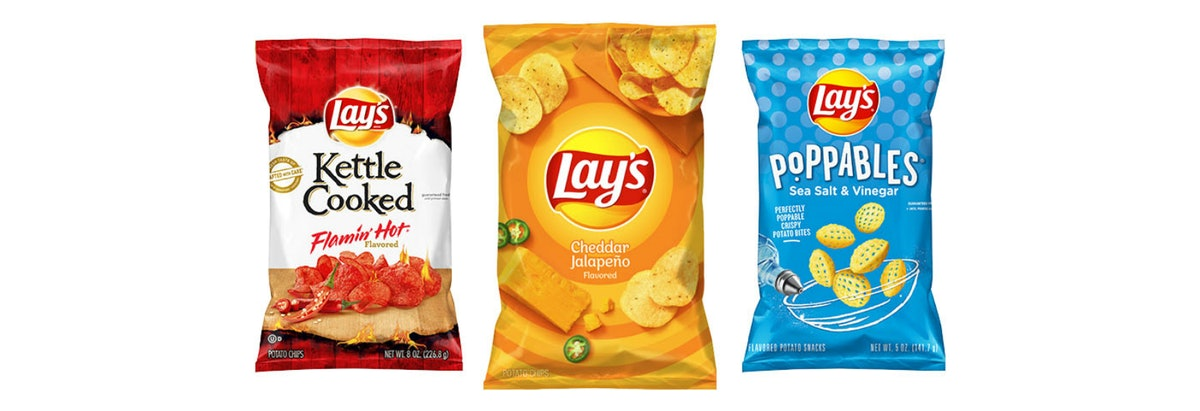 Lay's Is Spicing Up The Year With 3 New Flavors, including a cheddar jalapeno and a flamin' hot vari...