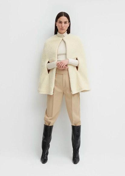 Mellac Faux Fur Cape Ivory