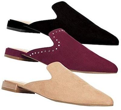 Rohb by Joyce Azria Maison, Soho & Jolie Pointed Toe Flat Slip On Mules