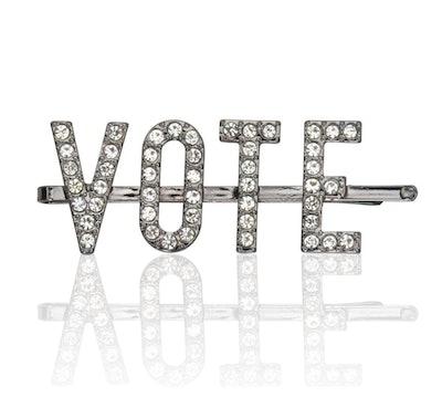 Vote Rhinestone Bobby Pin