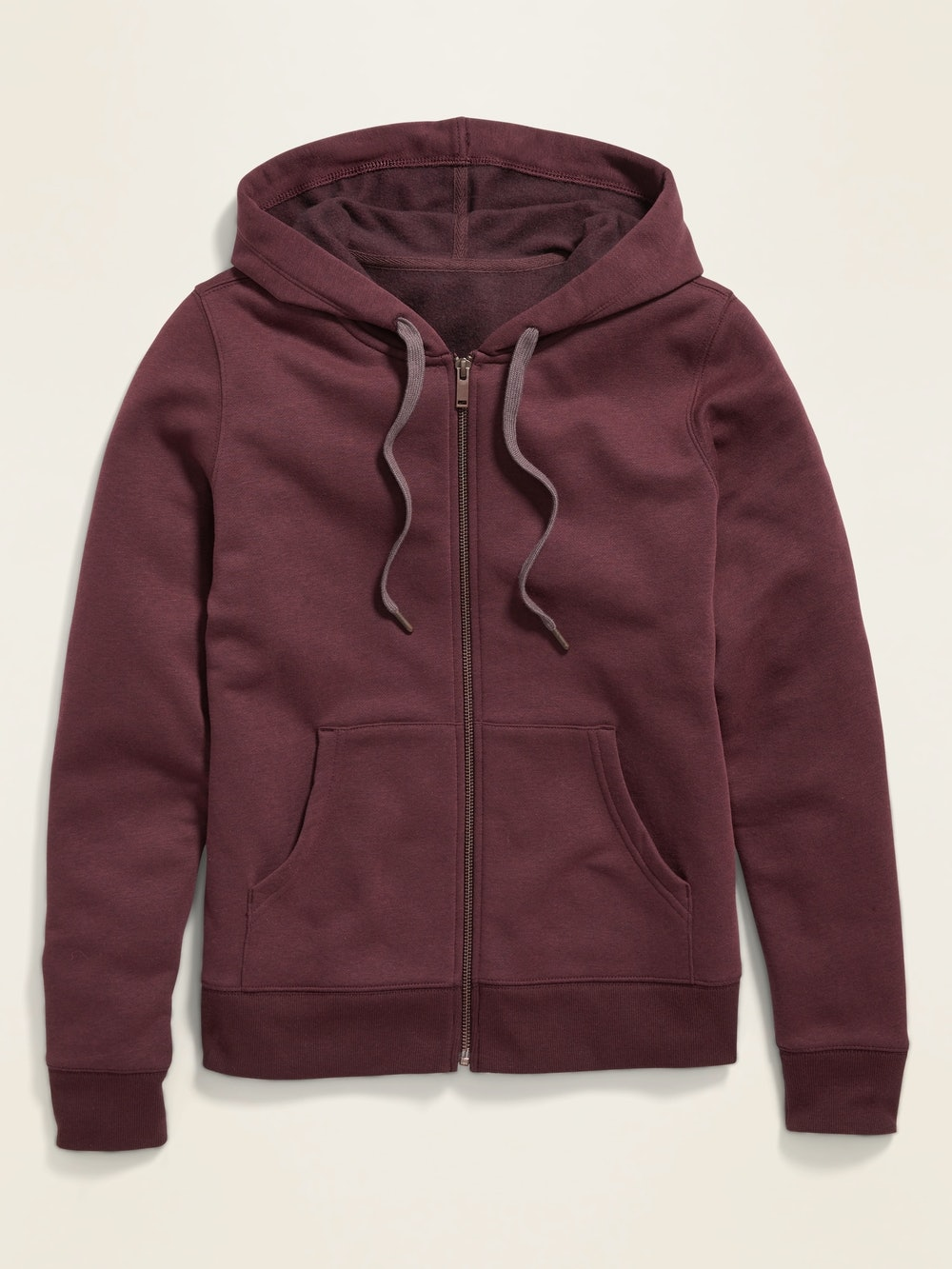 French Terry Zip Hoodie for Women