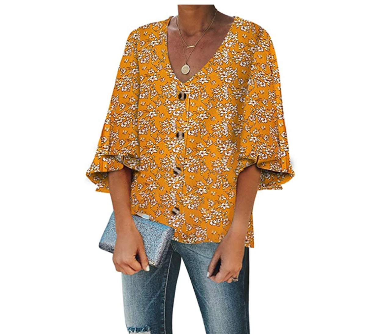 Biucly V-Neck Top