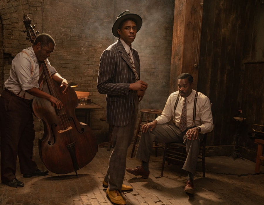 The first photos from 'Ma Rainey's Black Bottom' tease Chadwick Boseman's final film role.
