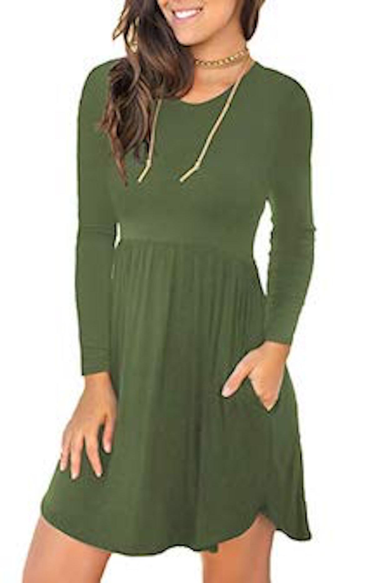 LONGYUAN Long Sleeve Dress