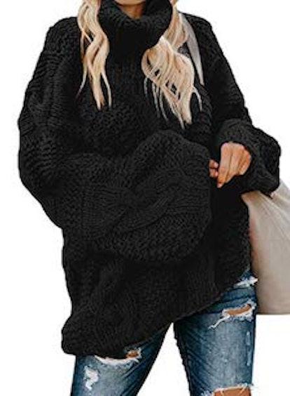 ZKESS Long Sleeve Turtleneck Sweater