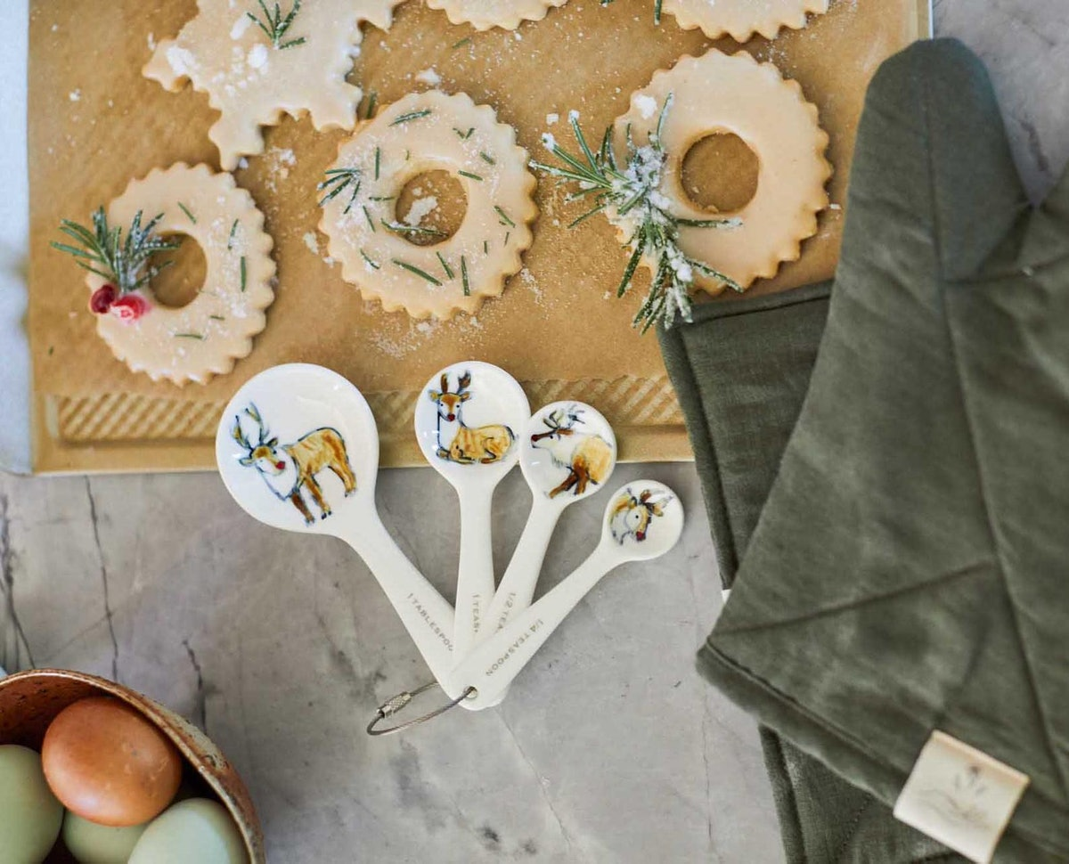 Half Baked Harvest x Etsy Holiday Reindeer Ceramic Measuring Spoons
