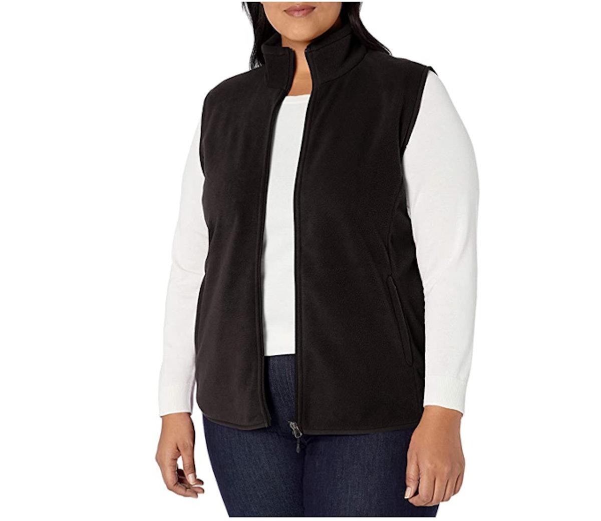 Amazon Essentials Plus-Size Full-Zip Fleece Vest