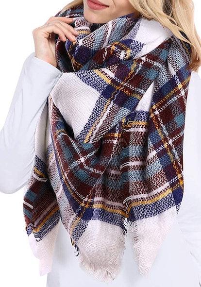 Bess Bridal Plaid Blanket Scarf