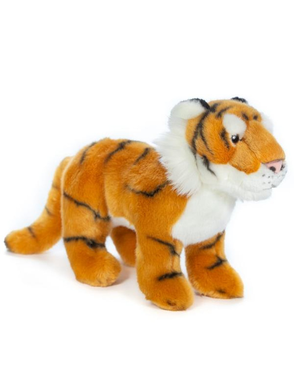 Standing 12 Inch Stuffed Tiger Plush Floppy Animal Kingdom Collection