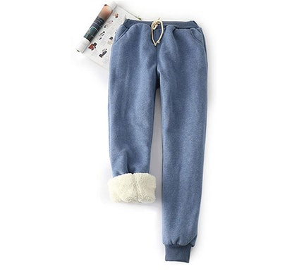 Yeokou Sherpa-Lined Sweatpants