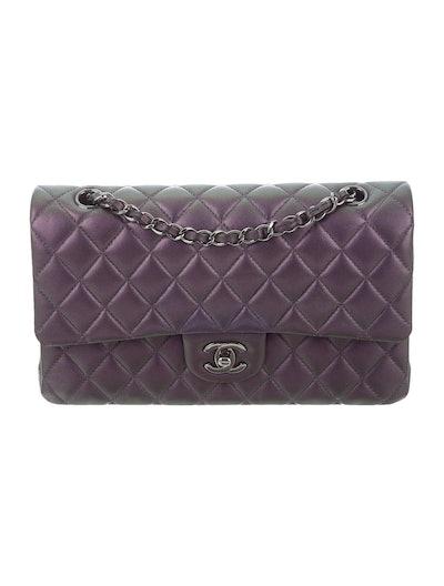 Iridescent Classic Medium Double Flap Bag