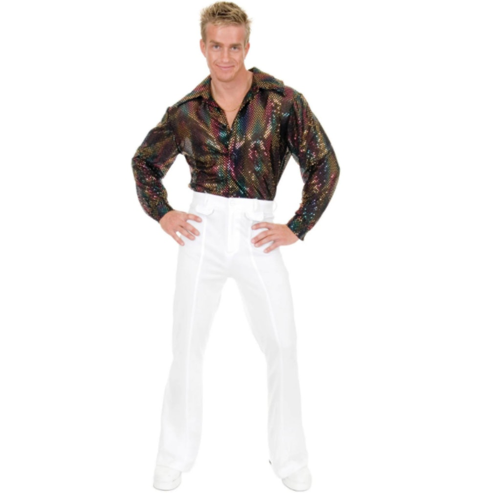 Mens Sequin Disco Shirt