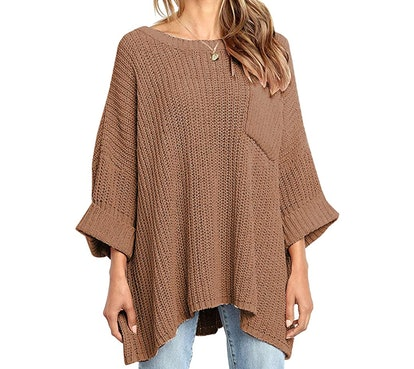 KIRUNDO Off-the-Shoulder Knit Sweater