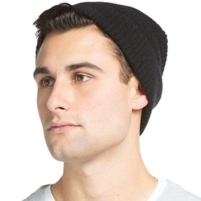 Fishers Finery 100% Pure Cashmere Ribbed Cuffed Hat
