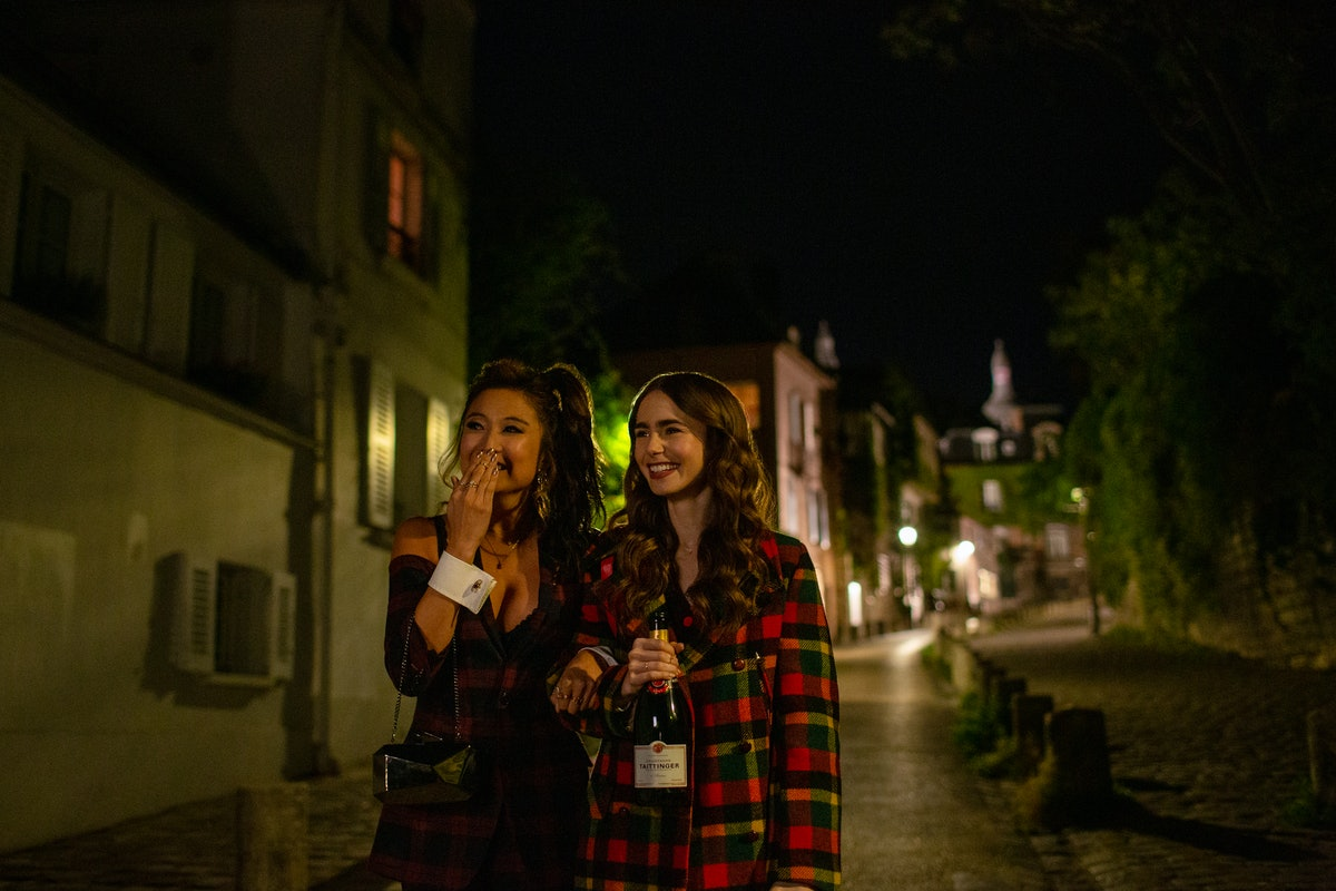 Mindy and Emily in 'Emily in Paris' Season 1