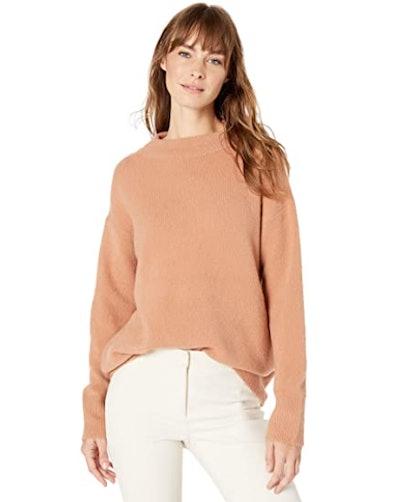 Lark & Ro Mock Neck Over Sized Sweater