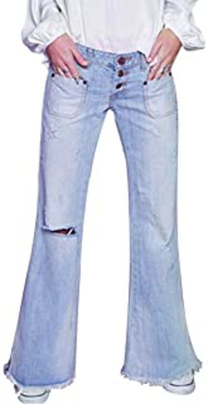 LALA IKAI Vintage Wide Leg Flare Jeans