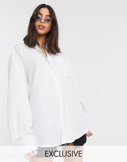 Collusion Oversized Shirt in White