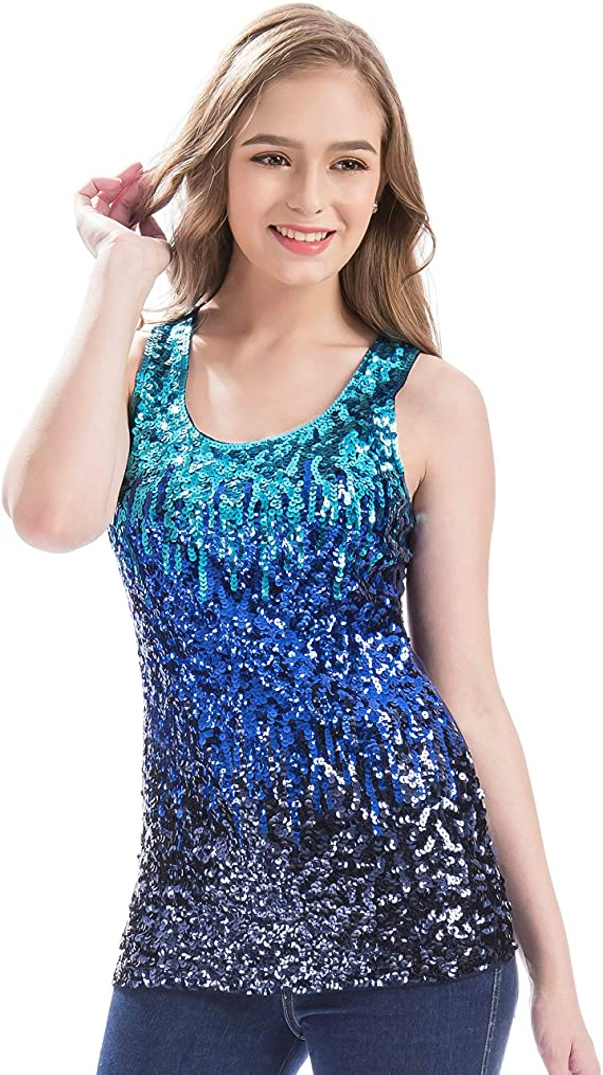 Sparkle Top for a Zoe Brooks DIY Zoey 101 Halloween Costume