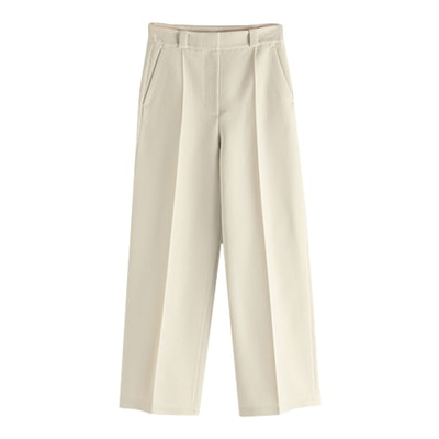 Pleated Vintage Waistband Cotton Trousers