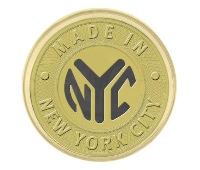 Made In NYC Gold Circle Lapel Pin