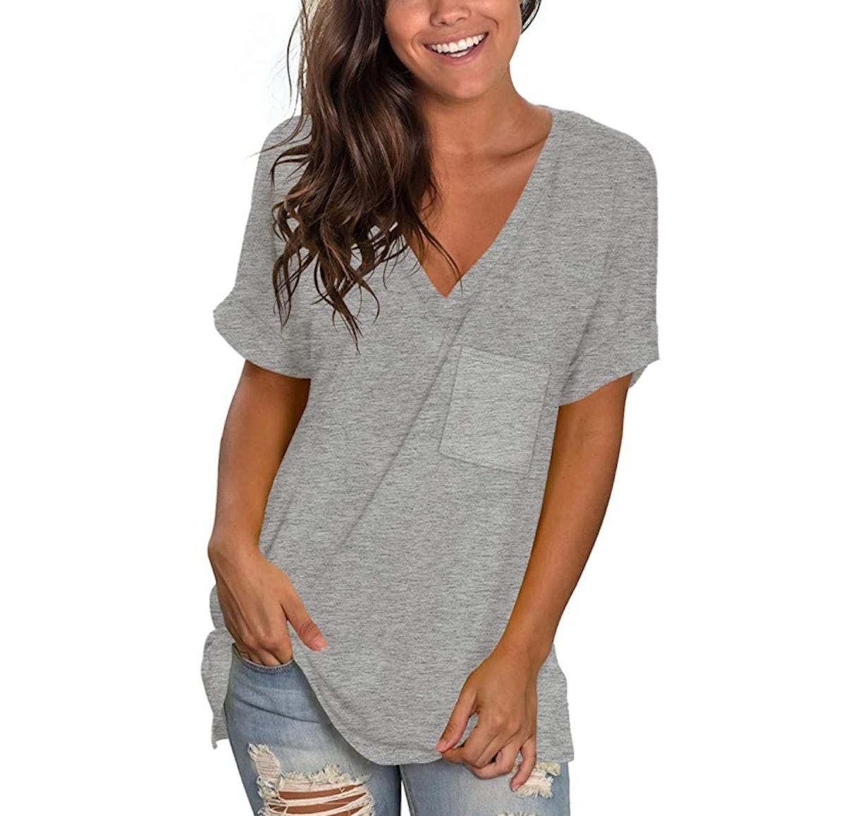 NSQTBA Basic V-Neck T-Shirt