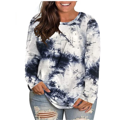VISLILY Plus-Size Long Sleeve Top