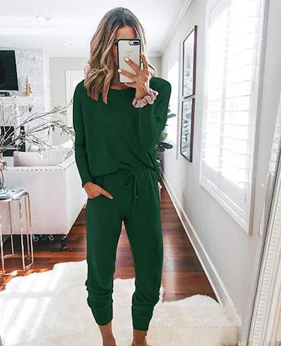 Green Track Sweatsuit Set