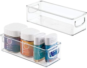 mDesign Stackable Plastic Storage Bin Caddy